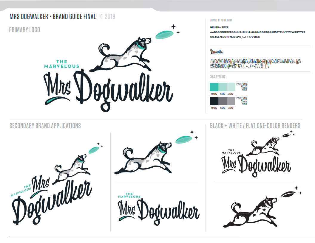 The Marvelous Mrs. Dogwalker Brand Guide