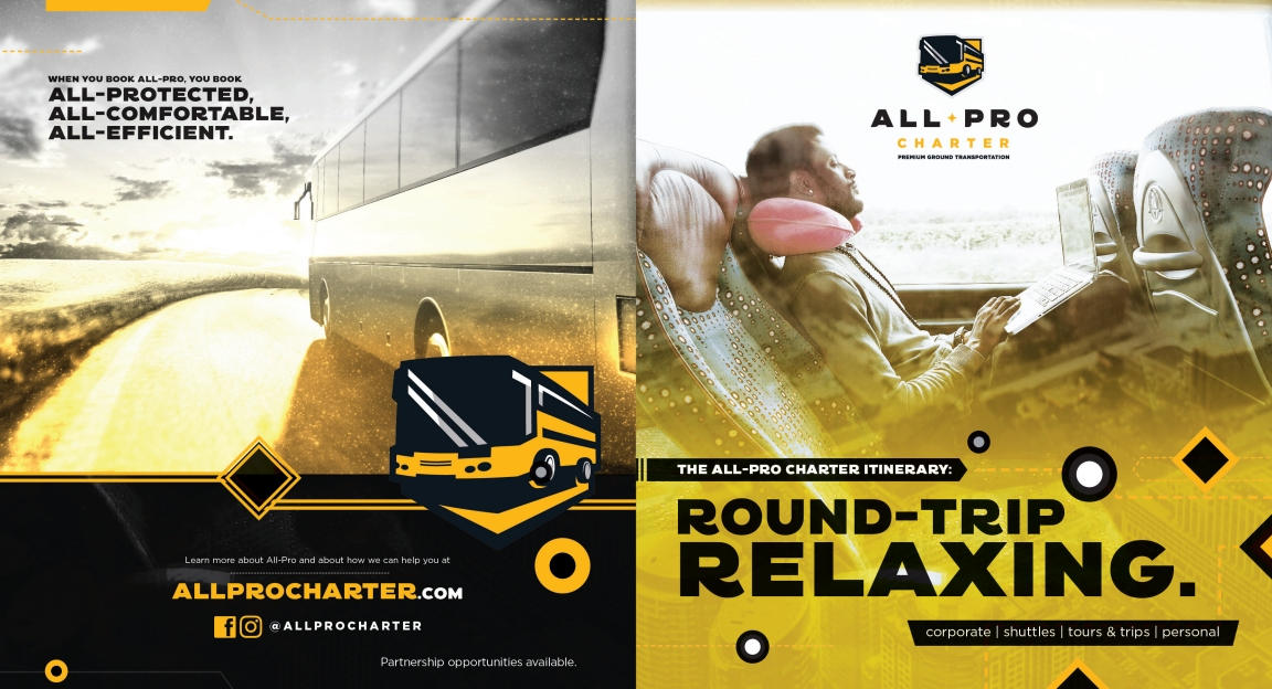 All Pro Charter Brochure Front Side