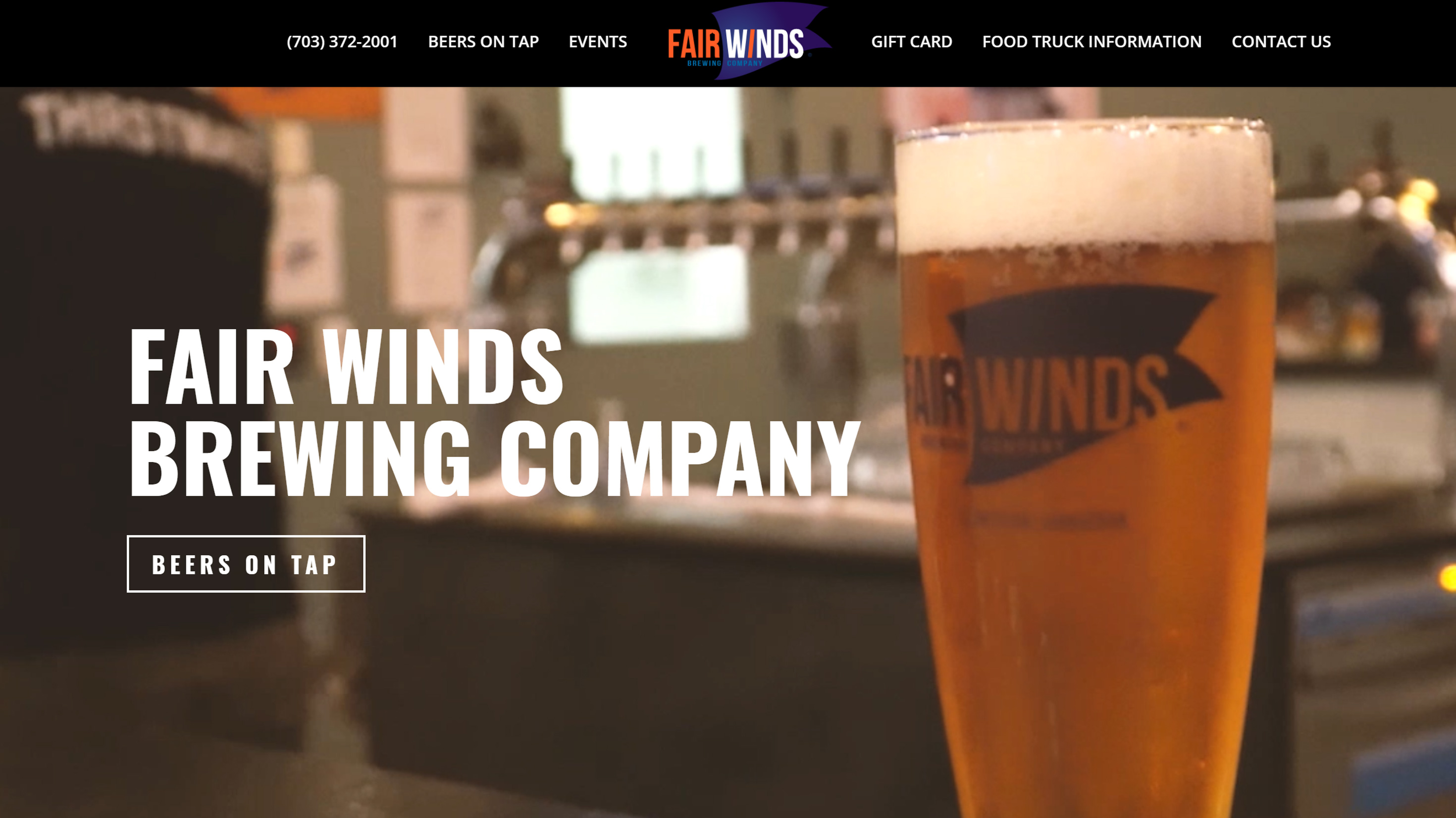 Fair Winds Brewing Company Website