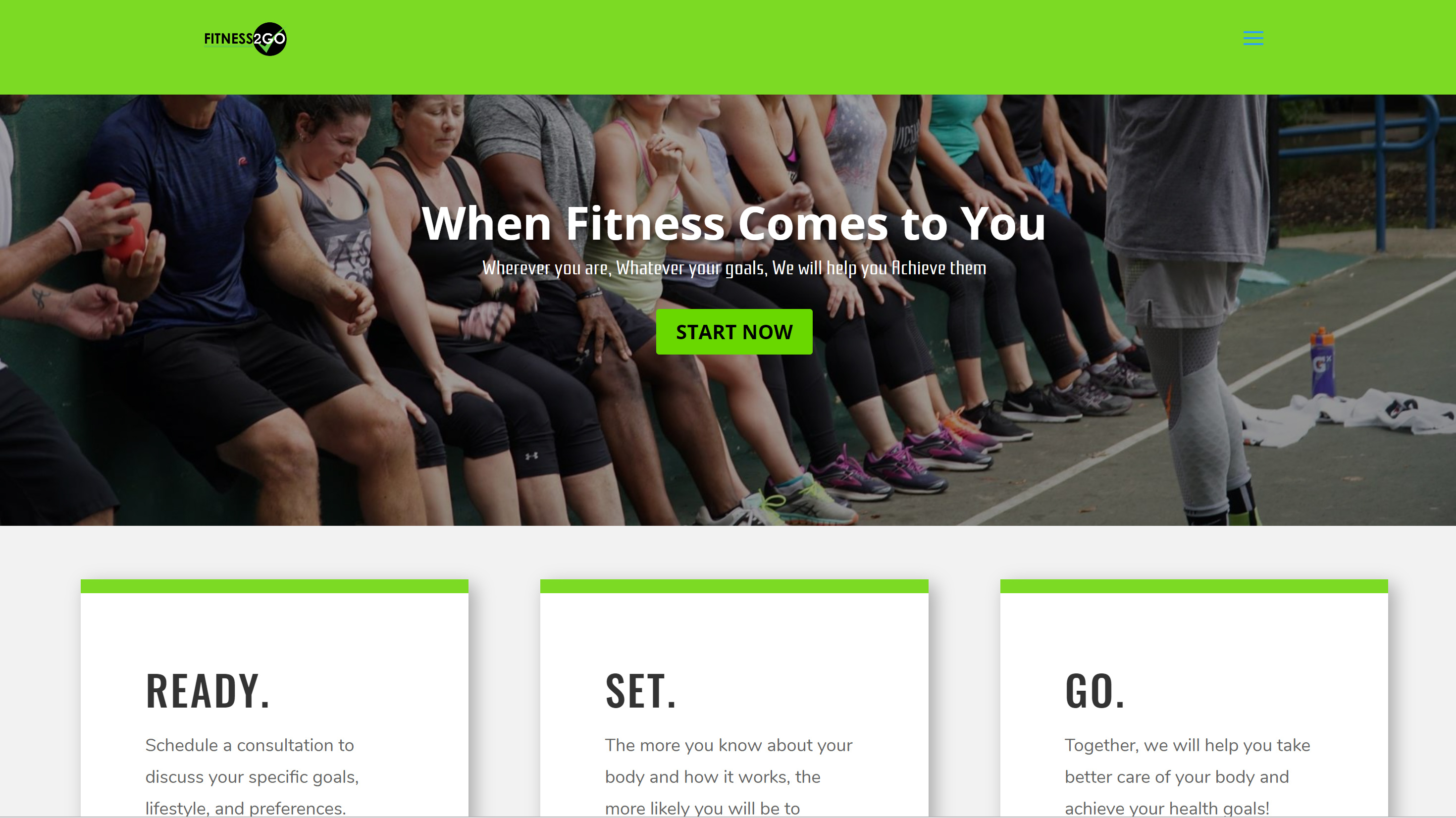 Fitness2Go Website